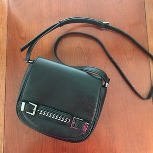 DVF Black Iggy Saddle Bag